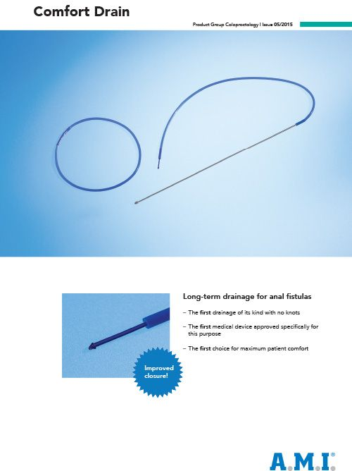 Coloproctology - Comfort Drain - Brochure