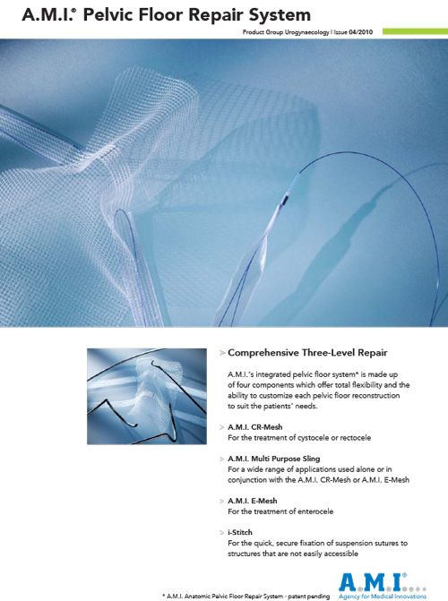 Urogynaecology - Pelvic Floor Repair System - Brochure