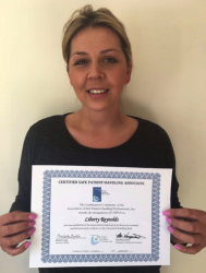 A UK First - Product Specialist Liberty Reynolds Awarded the Designation of Certified Safe Patient Handling Associate
